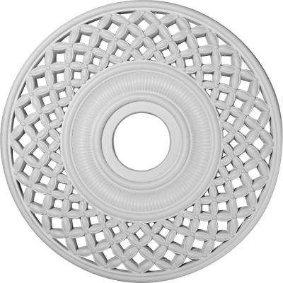 22-1/4 in. OD x 4-3/4 in. ID x 1-1/4 in. P (Fits Canopies up to 6-1/4 in.) Robin Polyurethane Ceiling Medallion