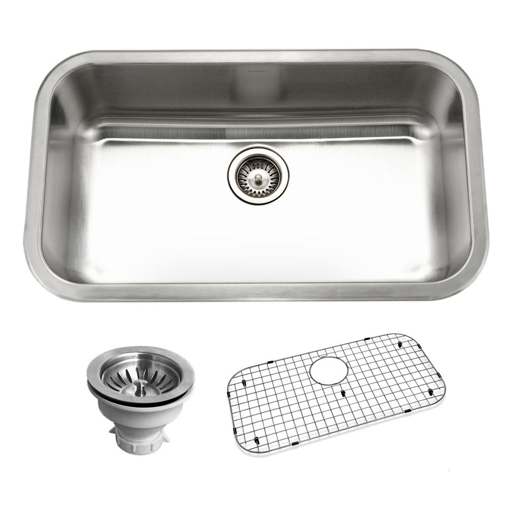 HOUZER Belleo Series DropIn In Stainless Steel Single Bowl - Houzer kitchen sink