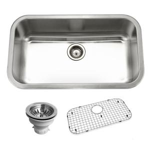 HOUZER Belleo Series Drop In 32 In. Stainless Steel Single Bowl Kitchen Sink BSG 3018    The Home Depot