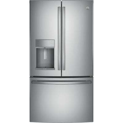 36 in. W 27.8 cu. ft. French Door Refrigerator with Door-in-Door in Stainless Steel, ENERGY STAR