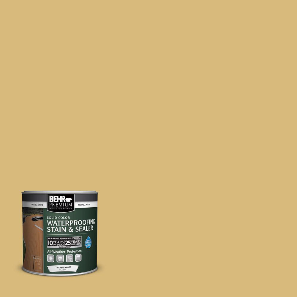 BEHR Premium 8 oz. #SC-139 Colonial Yellow Solid Color Waterproofing Stain and Sealer Sample