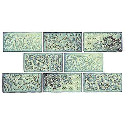 Antic Feelings Agua Marina 3 in. x 6 in. Ceramic Wall Tile (1 sq. ft. / pack)