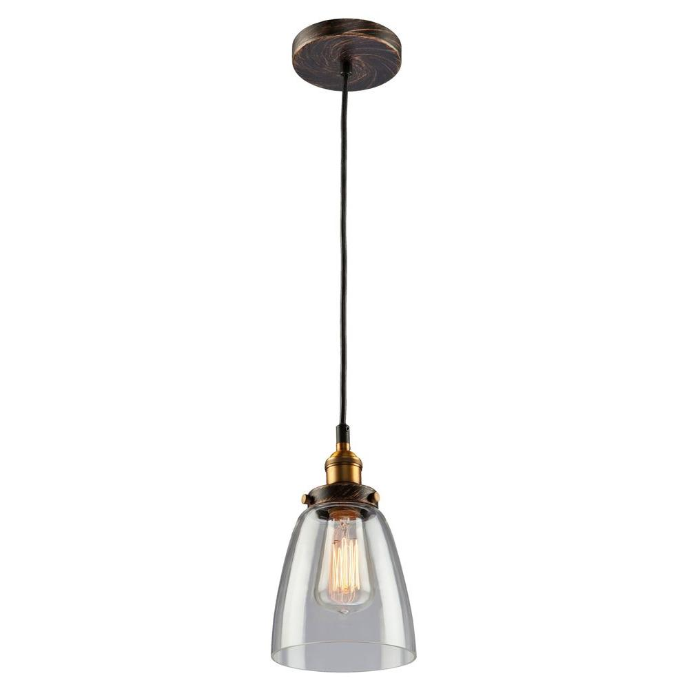 filament design merignac 1 light copper and multi tone brown mini pendant cli acg101615 the. Black Bedroom Furniture Sets. Home Design Ideas