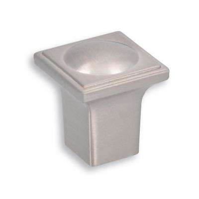 Vega 0.80 in. Fine Brushed Nickel Drawer Knob