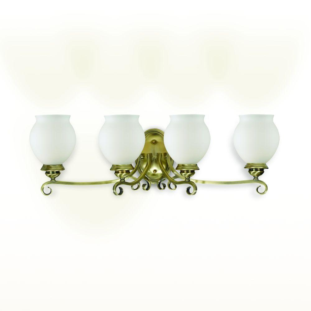 Eurofase Beatrice Collection 4-Light Antique Brass Wall Bath Bar-DISCONTINUED