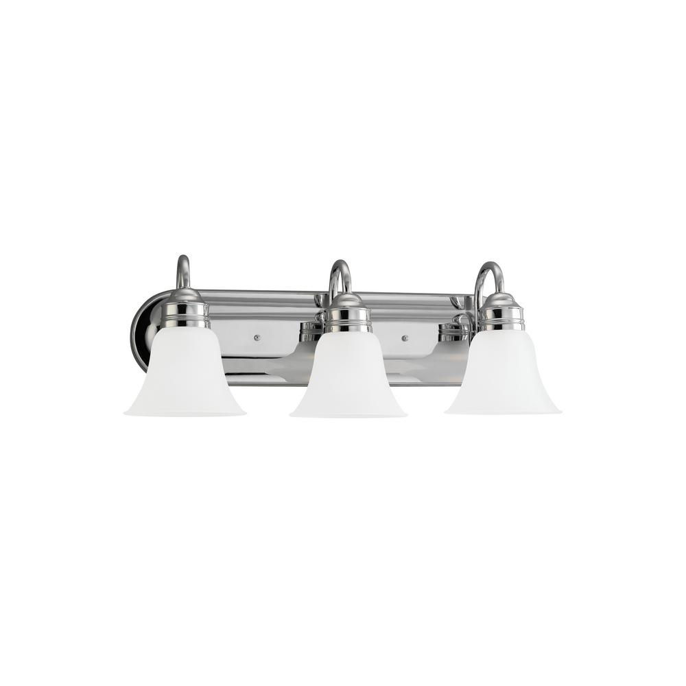 Gladstone 3-Light Chrome Bath Light with LED Bulbs