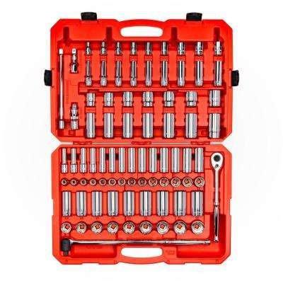 1/2 in. Drive 6-Point Socket and Ratchet Set (84-Piece, 3/8 in. to 1-5/16 in., 10 mm to 32 mm)
