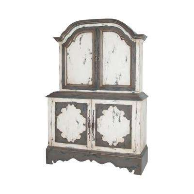 Crossroads European White and Garden Gate Media Cabinet