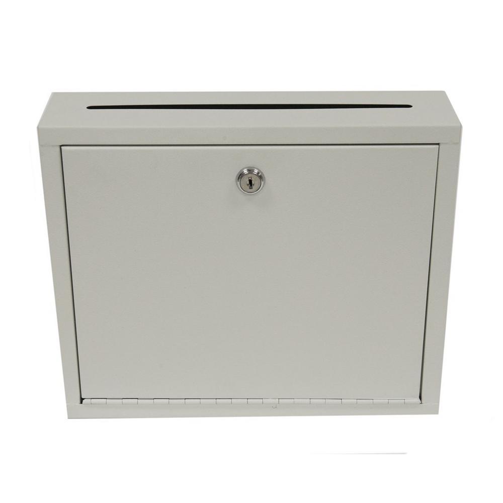 Large Size Grey Steel Multi-Purpose Drop Box