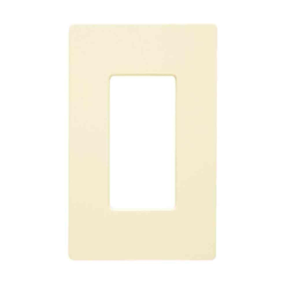 Lutron Claro 1 Gang Wall Plate - Light Almond