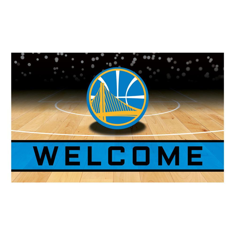NBA - Golden State Warriors 18 in. x 30 in. Rubber Door Mat