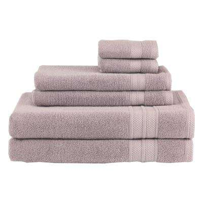 Solid 6-Piece Roseash Towel Set
