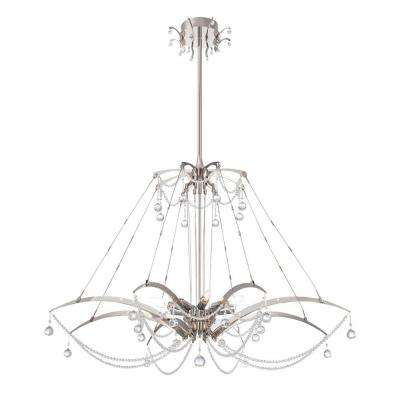 Gambari 8-Light Satin Nickel Chandelier