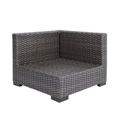 Commercial Gray Wicker Left Arm, Right Arm or Corner Outdoor Sectional Chair