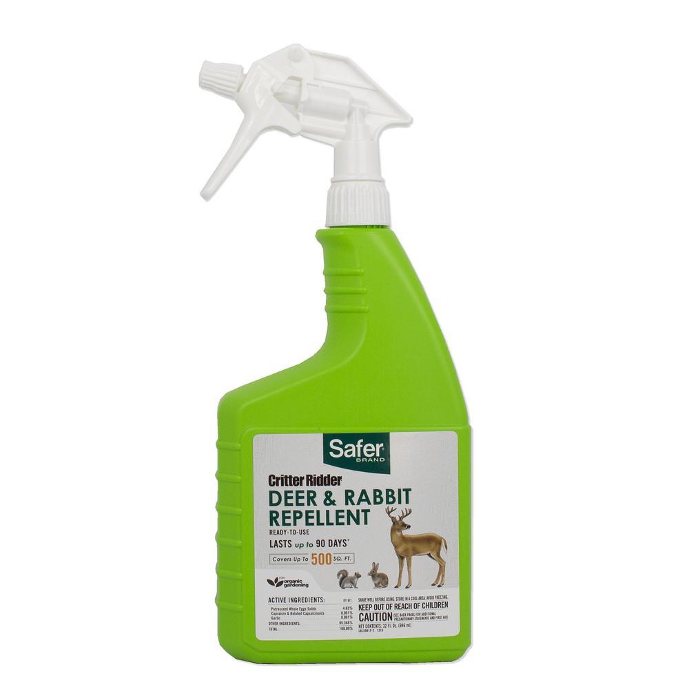 Critter Ridder 32 fl. oz. RTU Deer and Rabbit Repellent Spray