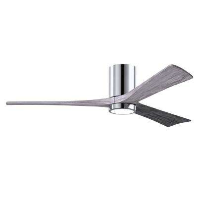 Irene 60 in. LED Indoor/Outdoor Damp Polished Chrome Ceiling Fan with Remote Control and Wall Control