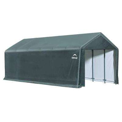 ShelterTube 12 ft. x 30 ft. x 11 ft. Grey Steel and Polyethylene Garage without Floor
