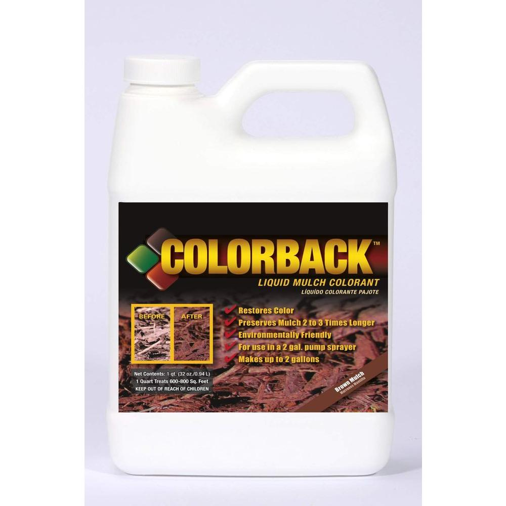 COLORBACK 32 oz. Brown Mulch Color Solution (Case of 6)-DISCONTINUED