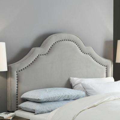 Verona Gray Velvet Full and Queen Headboard