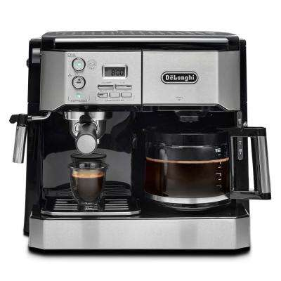 All-In-One Pump Espresso and 10-Cup Drip Coffee Machine with Advanced Cappuccino System