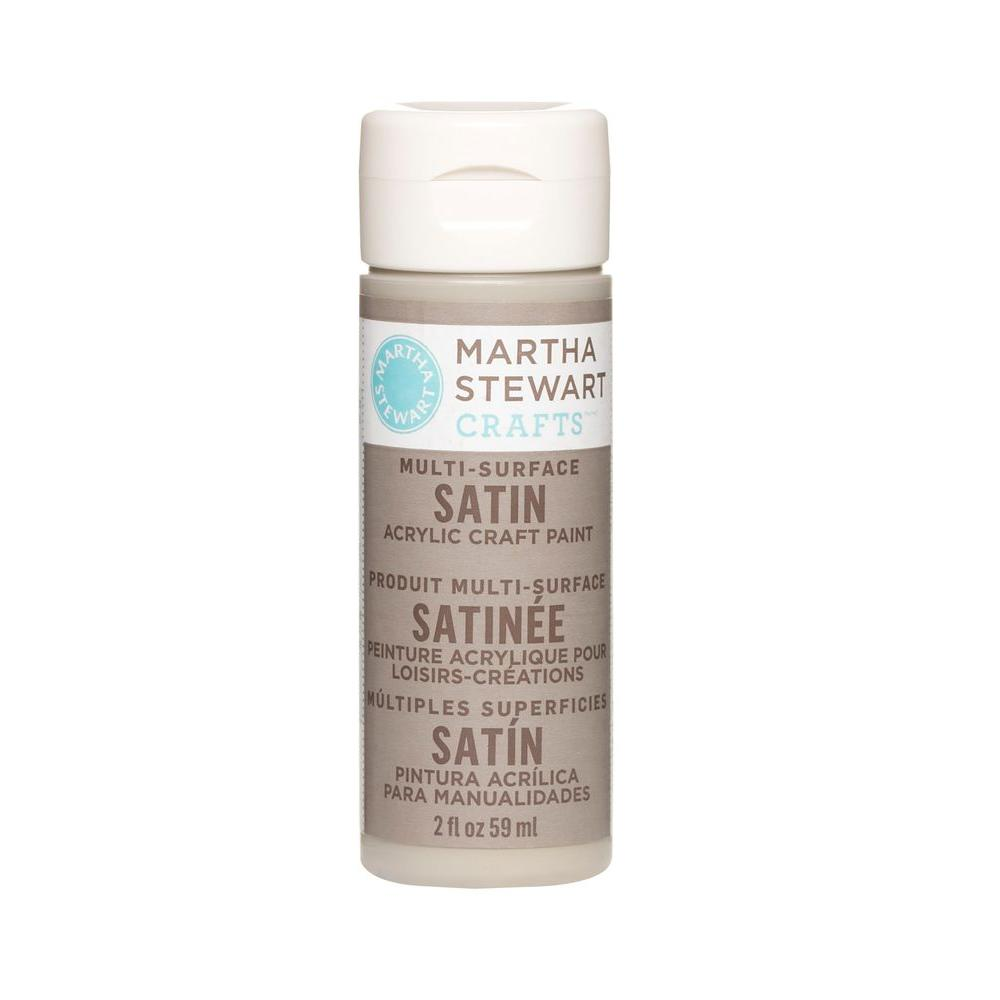 Martha Stewart Crafts 2-oz. Gray Wolf Multi-Surface Satin Acrylic Craft Paint