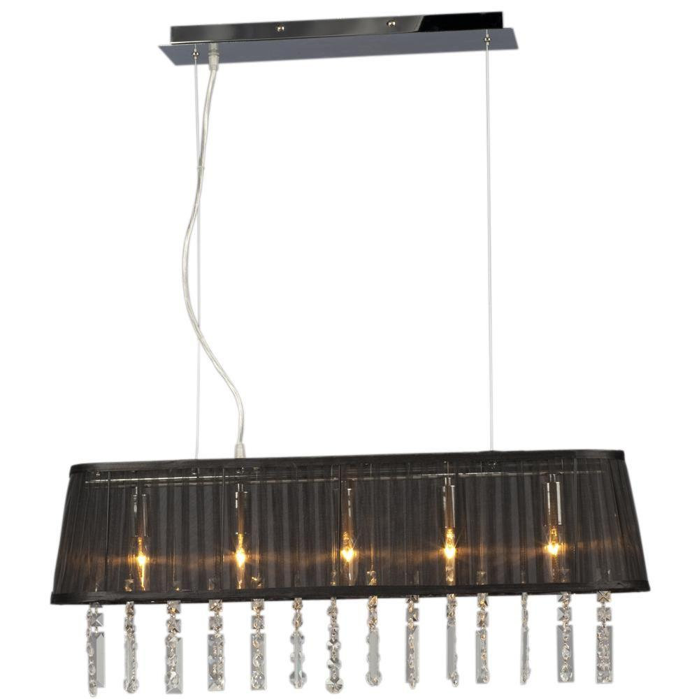 Filament Design Negron 5-Light Chrome Incandescent Ceiling Island Light