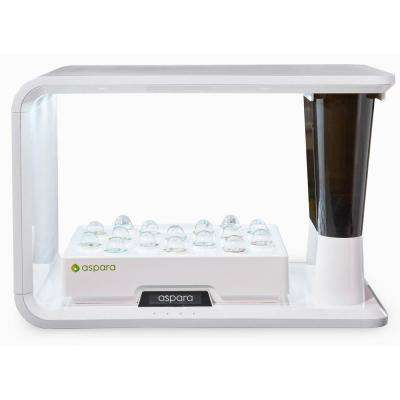 16 Hole White Removable Reservoir Hydroponic Grower