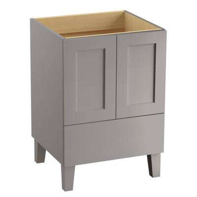 Poplin 24 in. Vanity Cabinet Only in Mohair Grey