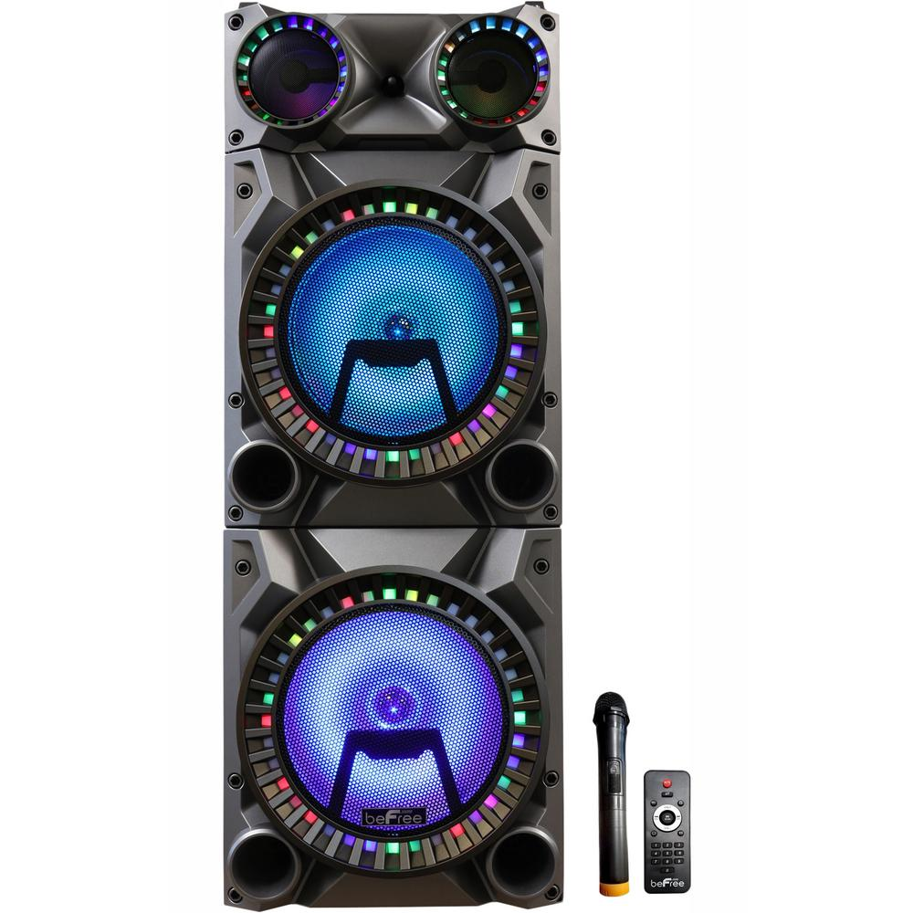 """beFree Sound 12/"""" Bluetooth Portable Rechargeable Party Speaker with USB//SD,"""