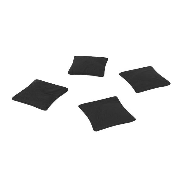 Official ACA Sized Black Corn-filled Duck Cloth Cornhole Bags (4-Set)