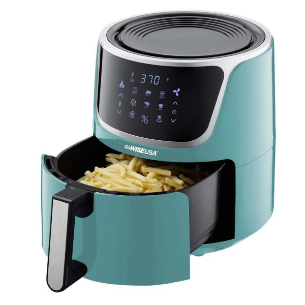 Gowise Usa 7 Qt Mint Air Fryer With Dehydrator And 3 Stackable Racks With 8 Functions Gw22954 The Home Depot
