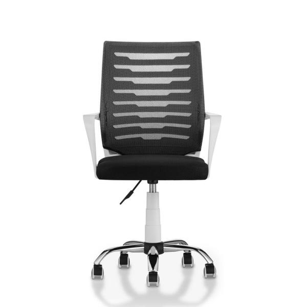 Furniture of America Stimson White Mesh Height Adjustable Swivel Office Chair