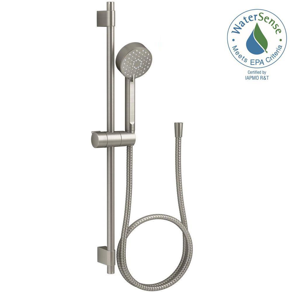 Kohler Awaken 3 Spray Function Hand Shower With Slide Bar Kit In Vibrant Brushed Nickel