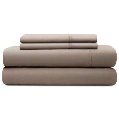 4-Piece Sandstone Tencel California King Sheet Set