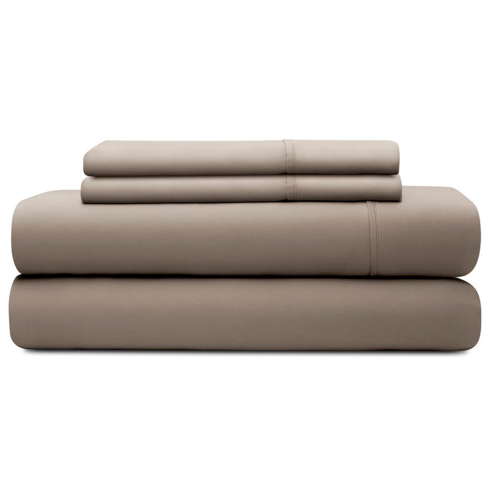 Brookside 4-Piece Sandstone Tencel California King Sheet Set BS03CKSATS