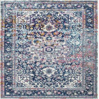 Persian Vintage Raylene Blue 8 ft. x 8 ft. Square Area Rug