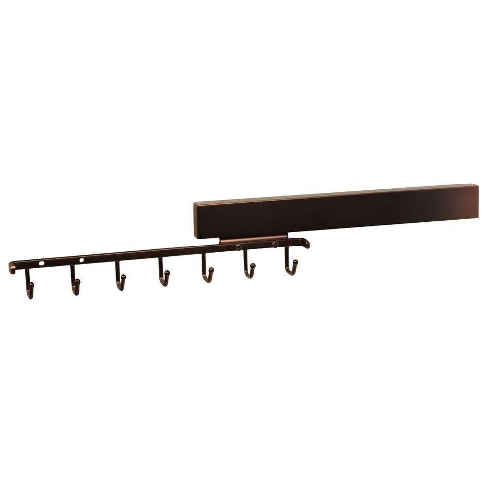 Deluxe 7-Hook Sliding Belt Rack
