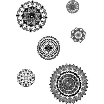 Black Morocco Medallions Wall Decals