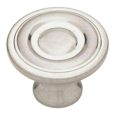 1-1/4 in. (32mm) Satin Nickel Ring Round Cabinet Knob (40-Pack)