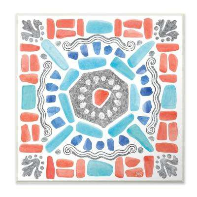 "12 in. x 12 in. ""Coastal Colors Mosaic"" by Beth Grove Printed Wood Wall Art"