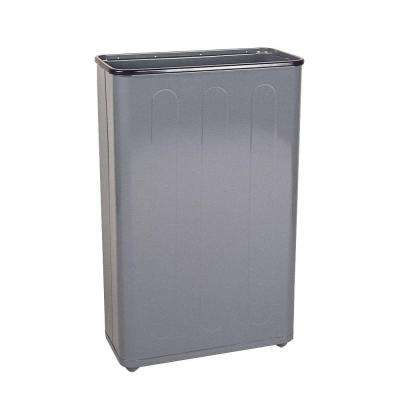 24 Gal. Gray Rectangular Steel Trash Can