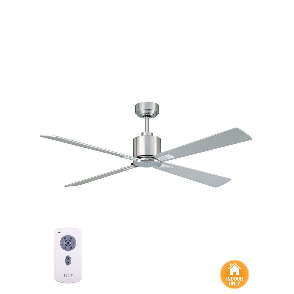 Lucci Air Climate Brushed Chrome and Silver 52 in. DC Ceiling Fan