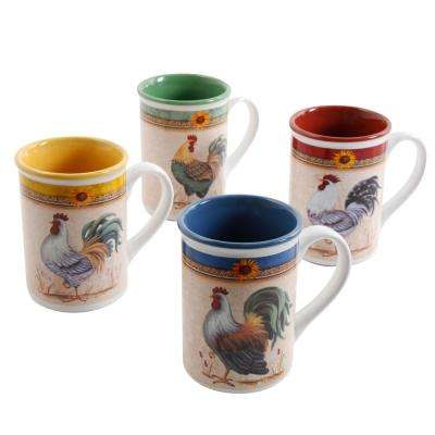Morning's Call 12 oz. Assorted Color Mugs (Set of 8)