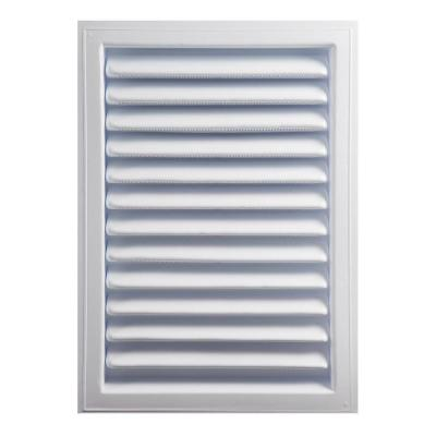 18 in. x 24 in. Plastic Wall Louver Static Vent in White