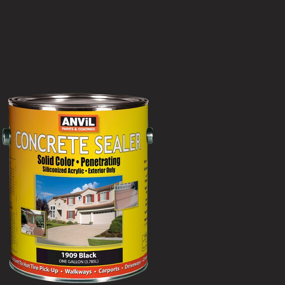 ANViL 1-gal. Black Siliconized Acrylic Solid Color Exterior Concrete Sealer-DISCONTINUED
