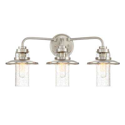 Dover 3-Light Satin Platinum Interior Bath Bar Light