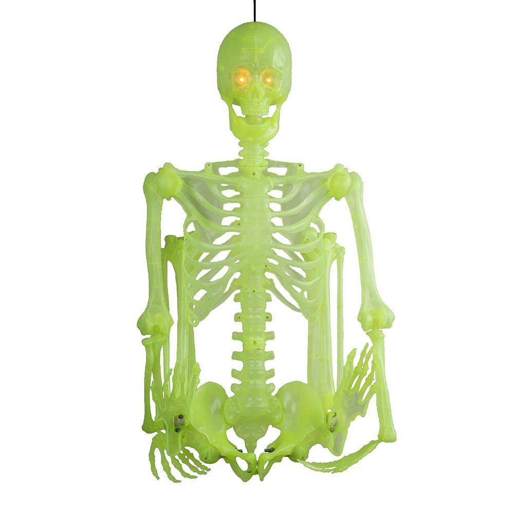 Home Accents Holiday 60 in. Glow-in-the-Dark Poseable Skeleton