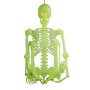 Deals on Home Accents Holiday 60 in. Glow-in-the-Dark Poseable Skeleton