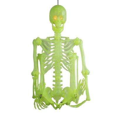 60 in glow in the dark poseable skeleton