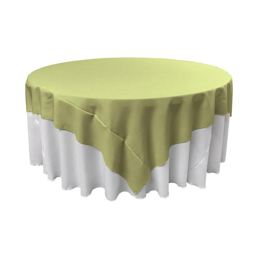 La Linen 90 In X 90 In Sage Polyester Poplin Square Tablecloth